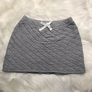 Gap Kids Gray Quilted Skirt